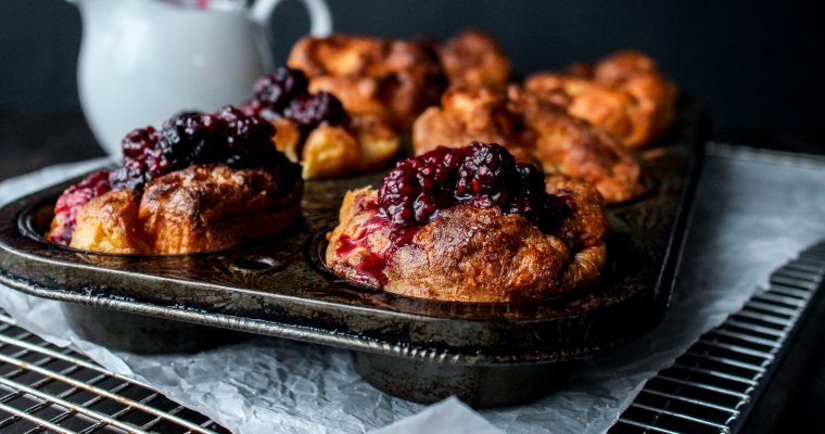 Jamie Oliver's Gluten-Free Yorkshire Pudding & Kira's Berry Compote