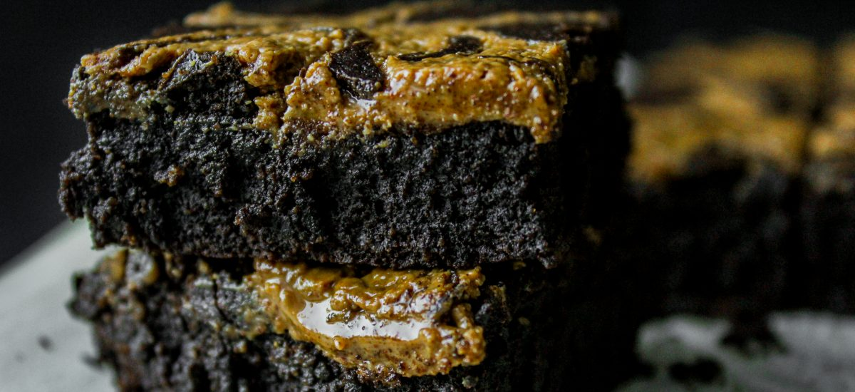 Black Cocoa and Almond Butter Brownies